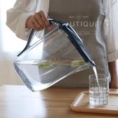 冷水壺家用塑料冷水壺涼水壺耐熱大容量果汁扎壺夏季茶水壺泡茶壺2L3L 宜室家居