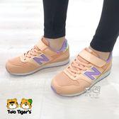 New Balance 996 美人魚系列 炫彩 粉橘色 魔鬼氈 運動鞋 中大童 NO.R3576
