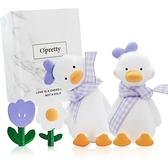 OPretty 歐沛媞 車用香氛擴香石擺飾-元氣加油鴨禮盒(紫色)