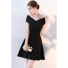 禮服黑色法式日常小禮服女晚禮服洋裝宴會生日派對連身裙顯瘦短款 LX春季新品