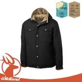 【Wildland 荒野 男 鵝絨防潑水極暖外套《黑》】OA62998/羽絨外套/連帽羽絨衣/夾克
