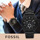 FOSSIL 霸氣質感時尚鋼帶腕錶 FS4552