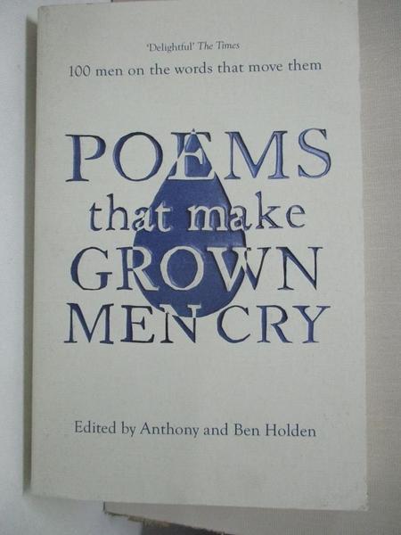 【書寶二手書T1/文學_BVI】Poems That Make Grown Men Cry