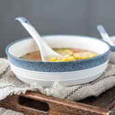 泡麵碗家用湯碗陶瓷陶瓷大湯碗湯盆大碗大號可微波湯碗【巴黎世家】