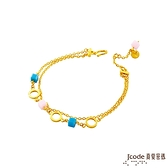 J'code真愛密碼金飾 動感樂章黃金/水晶手鍊