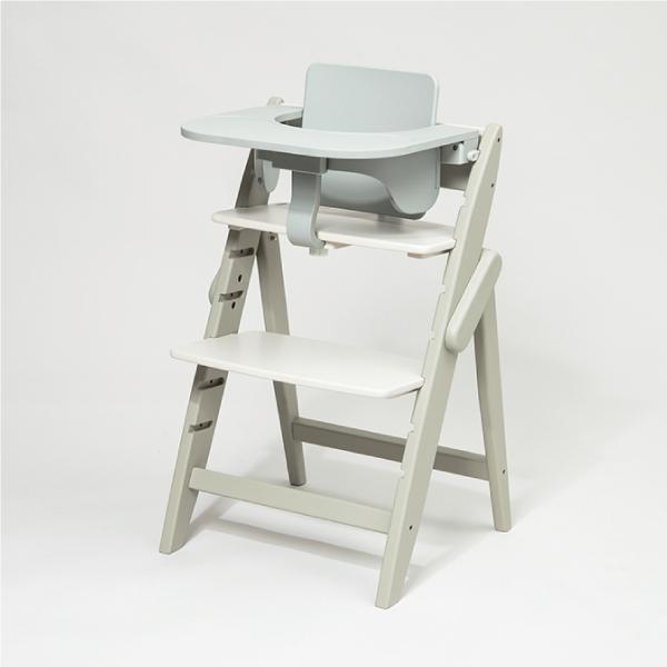 Moji-Yippy Cozy全成長型原木高腳椅(含餐桌護圈)-象牙白