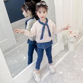 女童秋裝 2019新款網紅套裝小孩寶寶春秋季兒童韓版洋氣運動兩件套 zh8702『美好時光』