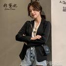 外套 春季新款韓版女裝小西裝外套長袖休閒氣質百搭短款女士小西服