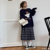 毛衣女寬鬆外穿秋裝2019新款小熊卡通懶惰風套頭長袖網上衣 怦然心動