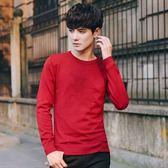 針織毛衣-圓領閃電圖案純色舒適男針織衫3色73pg57【巴黎精品】