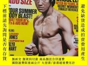 二手書博民逛書店李小龍(Bruce罕見Lee)封面,美國原版的英文健美雜誌:Muscle&FitnessY413539