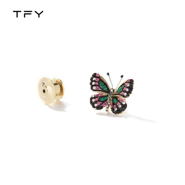 復古高檔蝴蝶胸針女簡約防走光領口小巧精致可愛創意百搭別針裝飾
