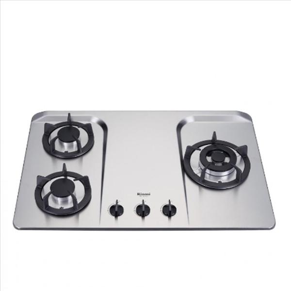 (無安裝)林內【RB-H301S_LPG-X】三口檯面爐防漏爐不鏽鋼鑄鐵爐架(與RB-H301S同款)瓦斯爐桶裝瓦斯