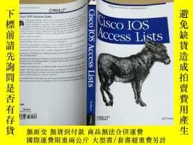 二手書博民逛書店Cisco罕見IOS Access Lists 訪問列表Y795
