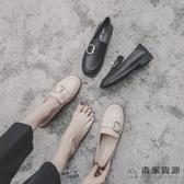 可踩跟方頭樂福鞋女英倫風小皮鞋軟底平底舒適軟皮單鞋【毒家貨源】
