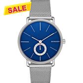 SKAGEN Hagen 小秒針腕錶/手錶-藍x銀/40mm SKW6230