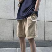 夏季純色百搭工裝短褲韓版休閒五分褲男士牌褲子青少年bf沙灘褲