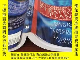 二手書博民逛書店Implementing罕見and Sustaining Your Strategic Plan: A Workb