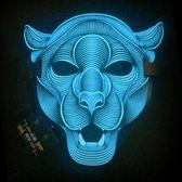 面具【狂歡萬聖節】LED聲控發光面具派對抖音面罩萬聖節EL熒光面具 科技旗艦 專區7折限購~