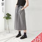 VOL901  輕量透氣棉麻質料  腰圍鬆緊設計好穿搭  休閒黑白配色俐落有型