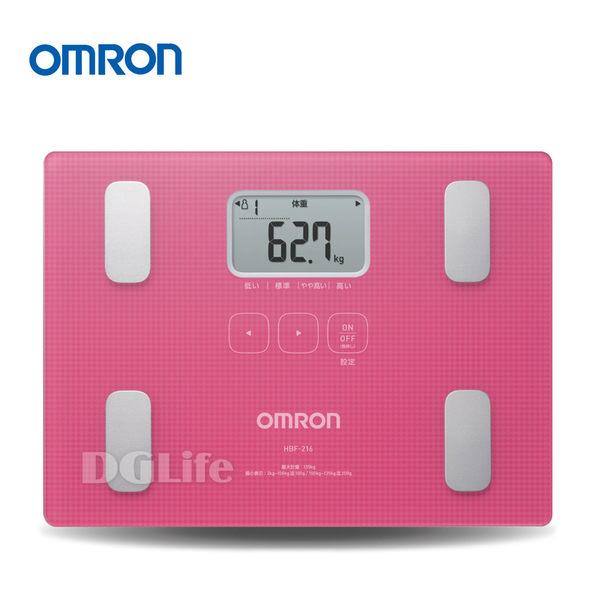 OMRON 歐姆龍 體脂計 HBF-216 粉紅色 加贈 環保提袋+保冷袋
