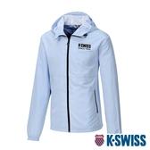 【超取】K-SWISS Color Zip Jacket防風外套-男-天藍