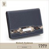 Kinloch Anderson 金安德森  皮夾  英雄Legend  深藍  男用卡夾 橫式上翻名片夾  KA153005 MyBag得意時袋