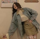 復古牛仔外套女2020年秋冬韓版中長款港味寬鬆長袖上衣