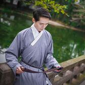重回漢唐山長 原創日常漢服男傳統純色直裰秋裝改良漢服非 古裝