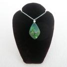 【歡喜心珠寶】【綠幽琥珀馬眼型墜子】加925銀k金晶鑽墜頭,波羅的海天然綠幽琥珀附保証書