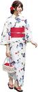 Nishiki【日本代購】和式浴衣+束腰帶2件套 女士成人用 - 朝顔に金魚