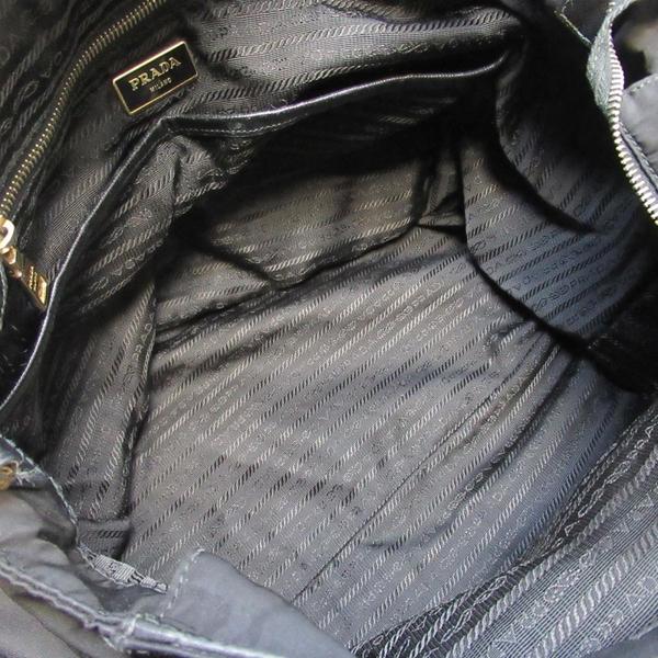 PRADA 普拉達 黑色尼龍材質金色LOGO手提肩背包 【二手名牌BRAND OFF】