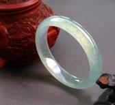 玉鐲天然A級翡翠色冰種玉鐲淺綠色女款玉鐲子玉石手鐲玉器帶 雙十一熱銷