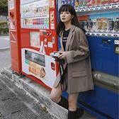 西裝外套女韓版寬鬆復古韓版西服上衣【少女顏究院】