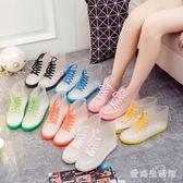 夏季成人短筒雨靴女士韓版時尚可愛防水水鞋男款透明雨鞋IP849『愛尚生活館』