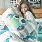 床包被套組 / 雙人特大【遇見朵朵藍】含兩件枕套,100%精梳棉,奇妙童話時光,戀家小舖台灣製