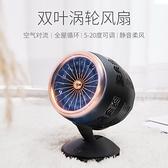 循環扇usb風扇創意迷你風扇雙葉風扇冷風機USB介面式【七月特惠】