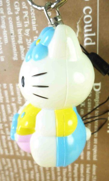 【震撼精品百貨】Hello Kitty 凱蒂貓~鎖圈-拉繩藍