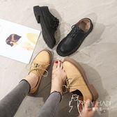 英倫鞋 英倫鞋子女2018秋季新款韓版百搭平底單鞋軟妹原宿學生小皮鞋