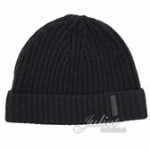 茱麗葉精品【全新現貨】BURBERRY 8007701 經典針織喀什米爾羊毛帽.黑