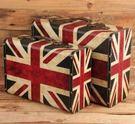 收納箱道具復古英國旗 大號+小號【藍星居家】