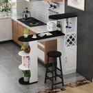 吧檯桌 歐式隔斷柜靠墻吧臺桌家用小簡約現代創意餐邊柜客廳廚房餐廳酒柜