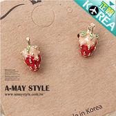 現貨-正韓-小淘氣草莓耳環