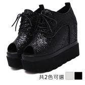 ★KEITH-WILL★(預購)36~39  復古造型綁帶厚底鞋