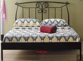 《凱耀家居》芭特黑色5尺鐵床檯111-371-2