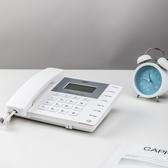 電話機得力固定電話機家用有線座機辦公室商務型電話機有繩電話來電顯示 艾家