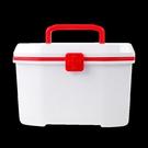 藥箱 藥箱家庭裝雙層藥品收納手提藥箱配帶便攜藥盒 韓菲兒