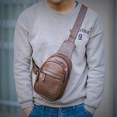 時尚簡約胸包男潮流青年韓版百搭迷你小號側背手機斜跨包  蘑菇街小屋