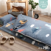 【R.Q.POLO】純棉兒童睡袋 冬夏兩用鋪棉書包睡袋4.5X5尺(侏儸紀公園)