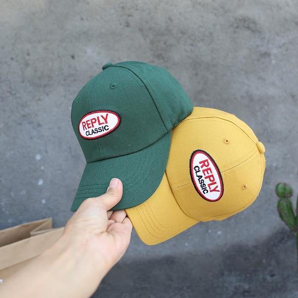 小紅帽家reply刺繡網紅兒童棒球帽小童彎檐帽夏戶外鴨舌帽遮陽帽1入